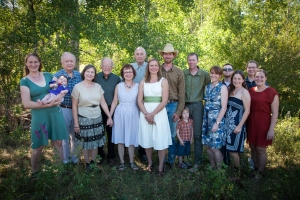 Some of the Clark family made it out to Montana for our wedding reception. Photo copyright Jill Fineis photography.