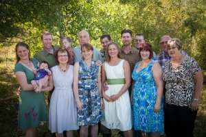 The Chicago Ristow family came to the end of the world for our wedding reception. Photograph copyright Jill Fineis Photography.