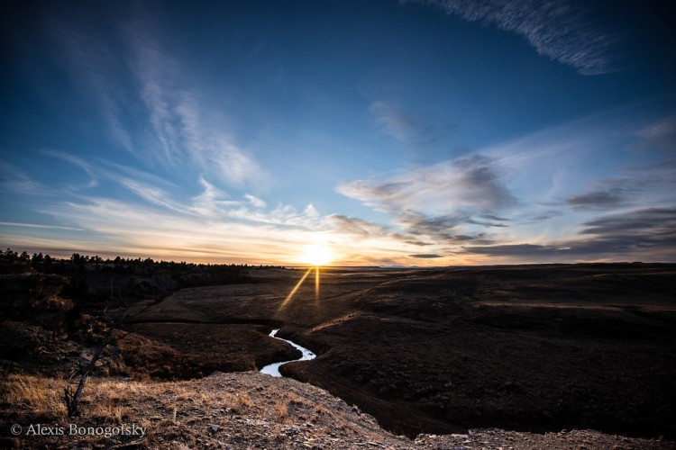 sunset over coulee ck